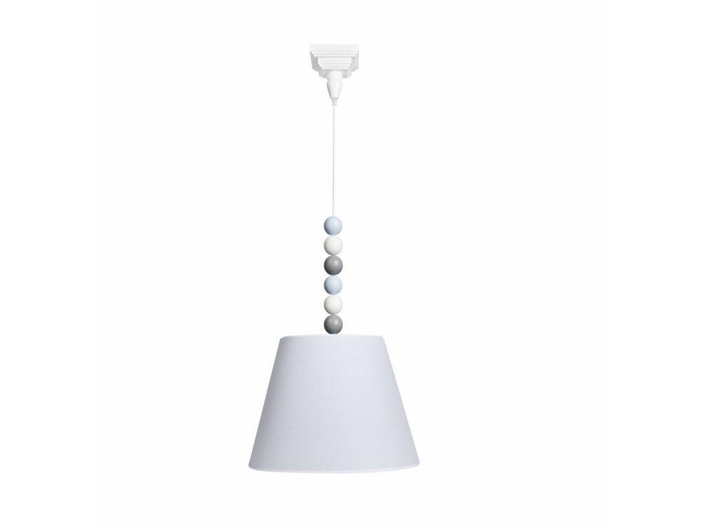 Caramella Baby Blue visiaca lampa s guličkami šedá