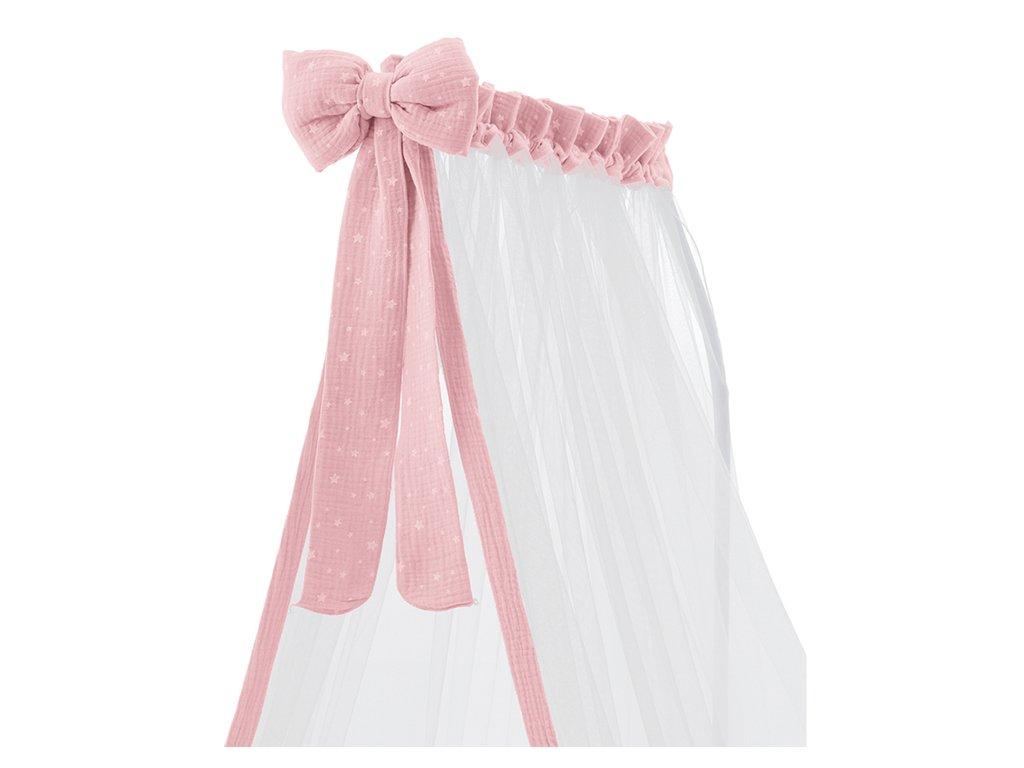 Italbaby Muslin baldachýn nad postieľku Muslin ružový