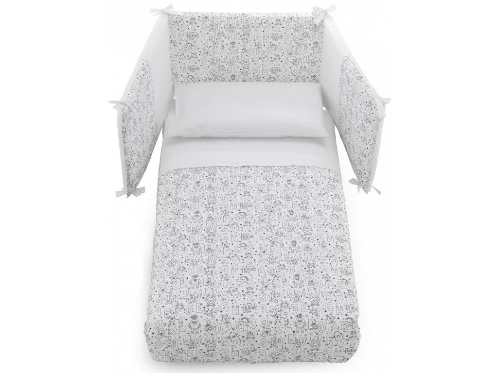 Italbaby Color Me mantinel s posteľnou bielizňou biely