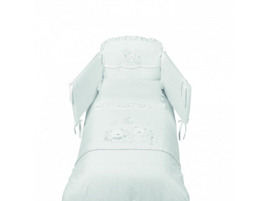 Italbaby Happy Family mantinel s posteľnou bielizňou
