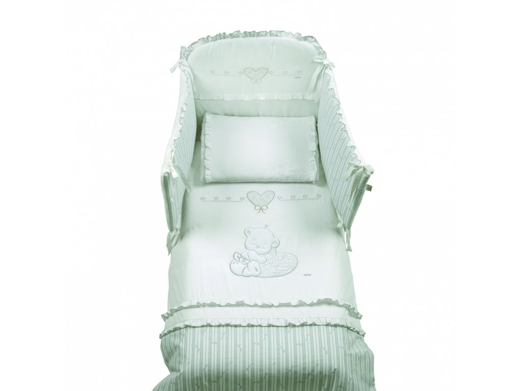 Italbaby Love mantinel s posteľnou bielizňou biely