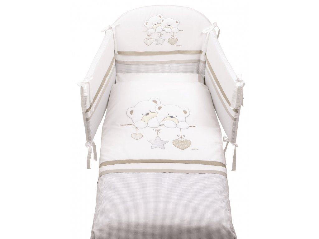 Italbaby Lovely Bears mantinel s posteľnou bielizňou