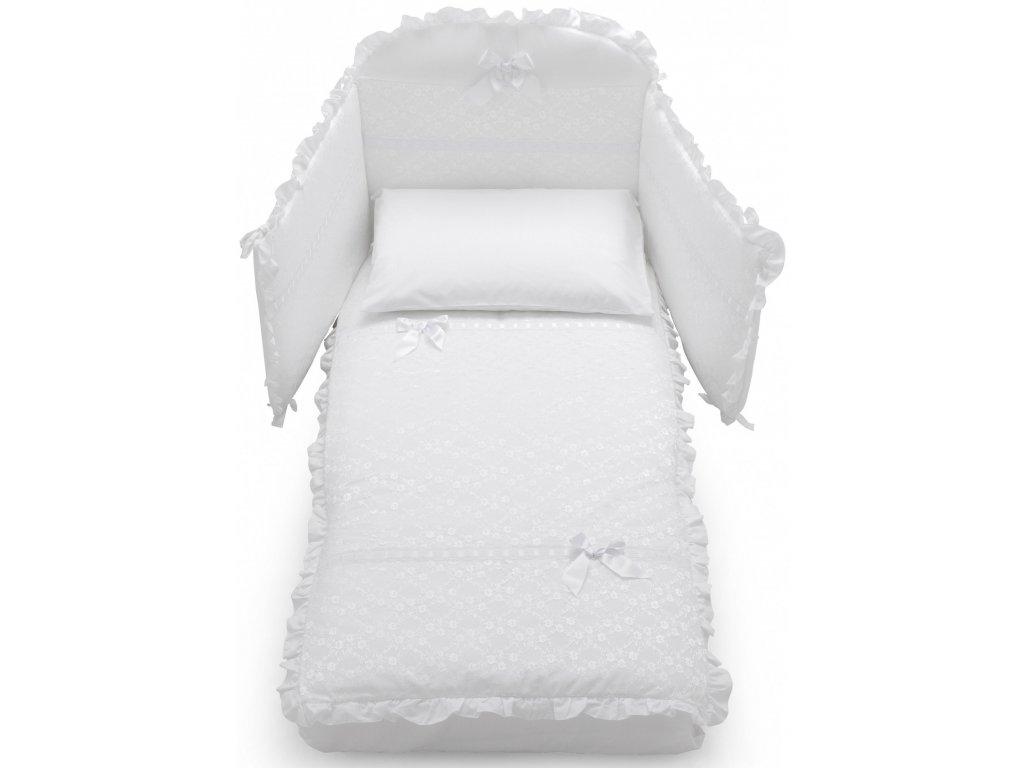 Italbaby Magnifique Lux mantinel s posteľnou bielizňou biely