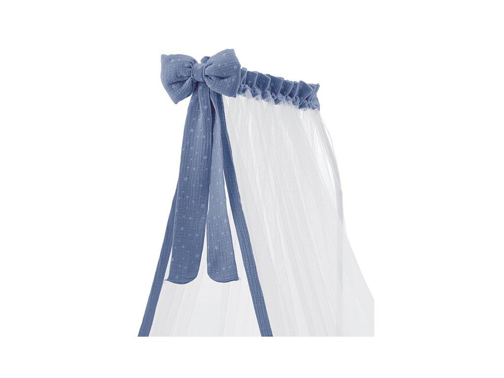 Italbaby Muslin baldachýn nad postieľku modrý