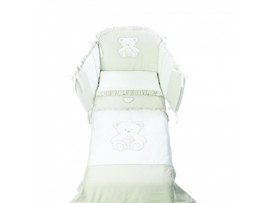 Italbaby Peluche mantinel s posteľnou bielizňou béžový