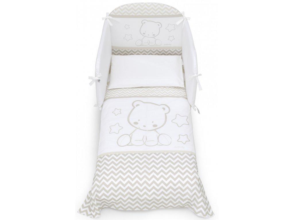 Italbaby Pop Star mantinel s posteľnou bielizňou béžový