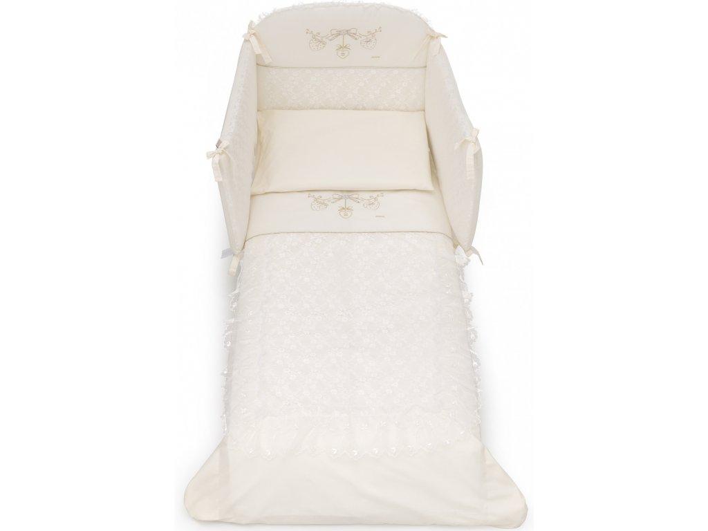 Italbaby Romantic mantinel s posteľnou bielizňou slonová kosť