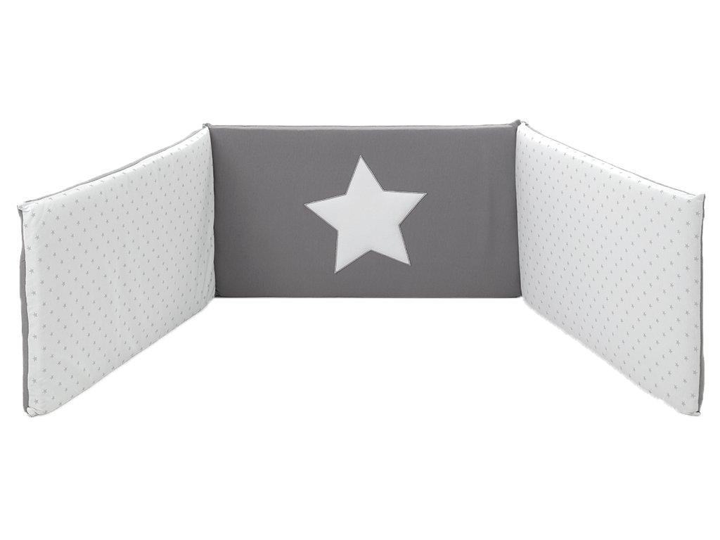 22934 italbaby star mantinel s postelnou bieliznou sedy