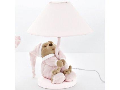 Nanán stolná lampa s medvedíkom Puccio ružová