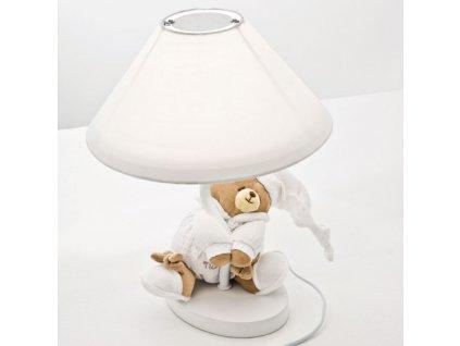 Nanán stolná lampa s medvedíkom Tato biela