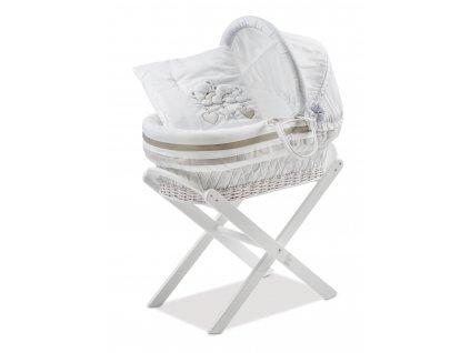 Italbaby útulný prútený košík pre bábätko Lovely Bears