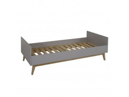 Quax masívna posteľ 90x200 Trendy šedá