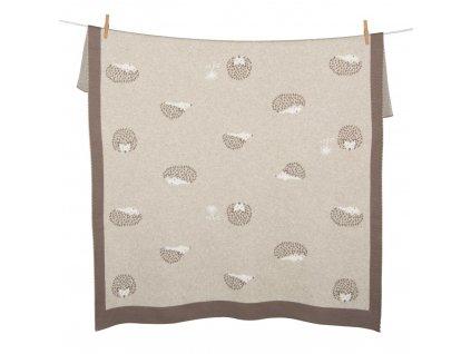 Quax pletená deka Ježko 80x100cm