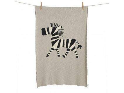 Quax pletená deka Zebra 100x160cm