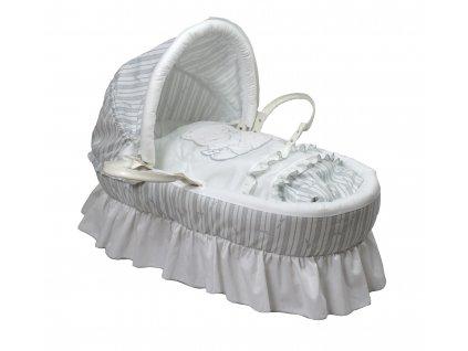 Italbaby rozkošný prútený košík pre dieťa Love