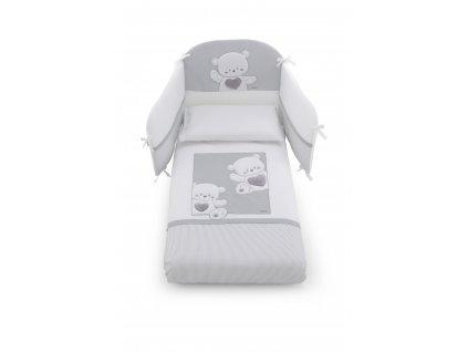 Italbaby mantinel s posteľnou bielizňou Jolie šedý