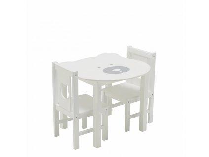 Sada stolu a stoličiek medvedík