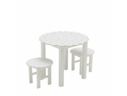 Sada stôl a stoličky okrúhla sušienka