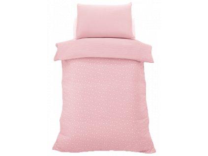 Italbaby detské obliečky pre dievča Muslin ružové