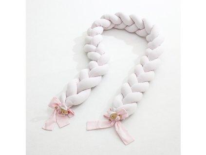 Nanán pletený vrkoč do postieľky Puccio ružový