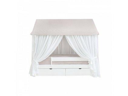 Detská posteľ domček Caramella béžový