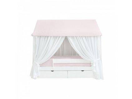 Caramella Baby Pink posteľ v tvare domčeka