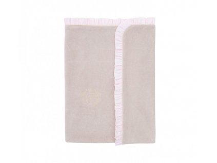 Detská deka z velúru Caramella Pastel Chic