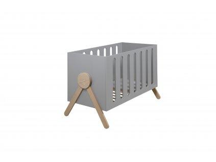 Micuna detská postieľka v škandinávskom štýle Swing šedá 60x120