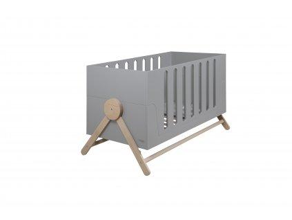 Micuna rastúca detská postieľka 70x140 Swing šedá