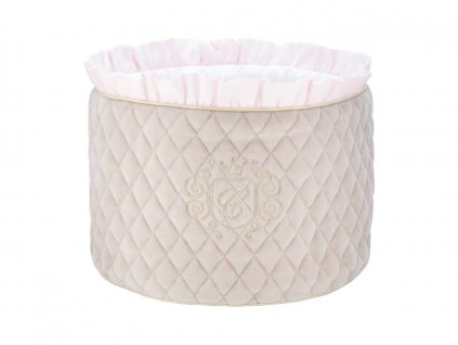 Caramella Pastel Chic okrúhly odkladací box béžový