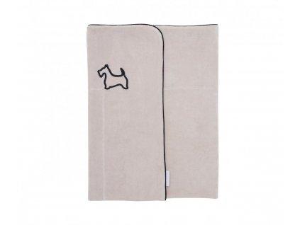 Velúrová deka Caramella