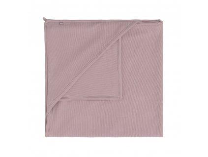 Baby´s only deka s kapucňou Pure 75x75cm ružová