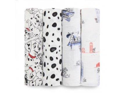 Aden & Anais 4 bavlnené plienky 120x120 Dalmatian