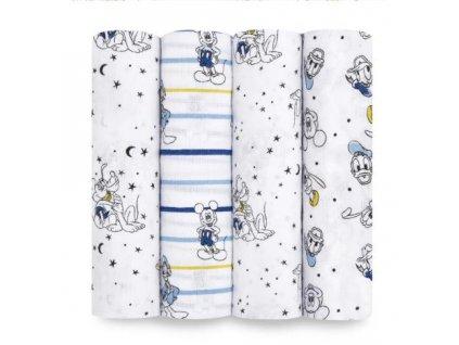 Aden & Anais 4 bavlnené plienky 120x120 Mickey