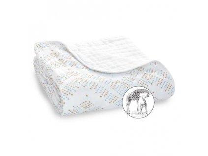 Aden & Anais bavlnená deka do postieľky Hear me roar