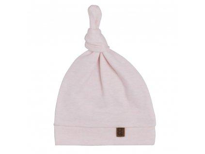 24173 baby s only melange bavlnena ciapka pre babatko s uzlikom bledo ruzova