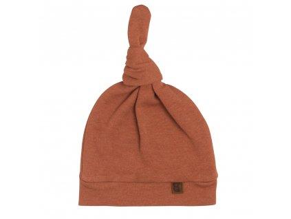 24188 baby s only melange bavlnena ciapka pre babatko s uzlikom medova