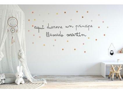 Nálepka vinylový nápis na stenu
