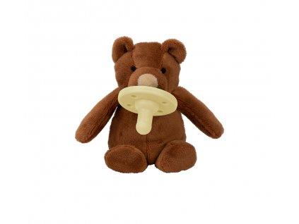 Minikoioi medvedík uspávačik s cumlíkom hnedý