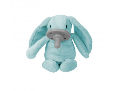 Uspávačik zajačik s cumlíkom modrý