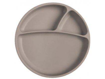 šedý tanierik s prísavkou