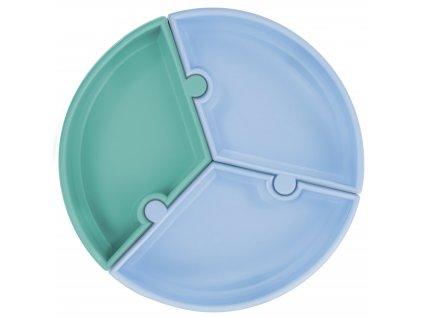 Tanier s prísavkou Puzzle modro tyrkysový