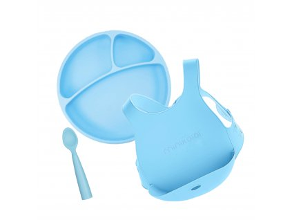 Minikoioi jedálenská sada pre deti modrá