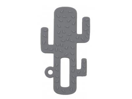 Hryzadlo silikónové kaktus šedé