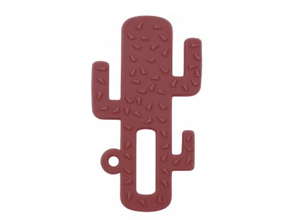 Hryzadlo silikónové kaktus bordové