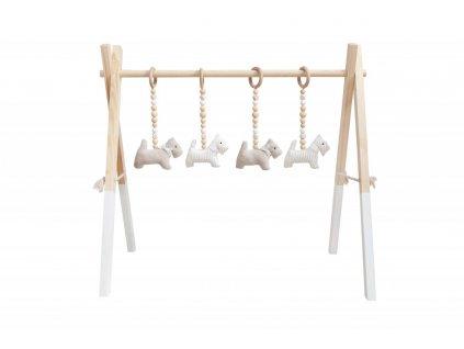 Béžová hrazda pre bábätko Caramella