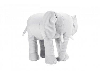 Sivý slon dekorácia do detskej izby