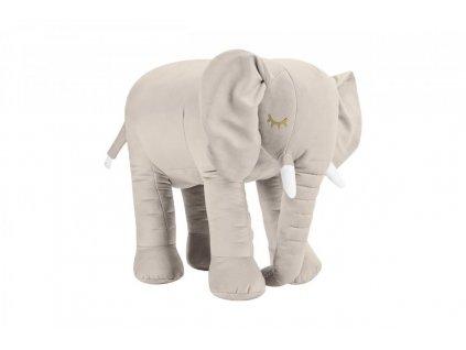 Béžový dekoračný slon