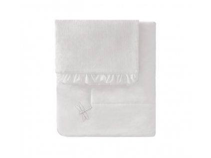 Caramella Ivory Mist detská deka s vankúšom slonová kosť