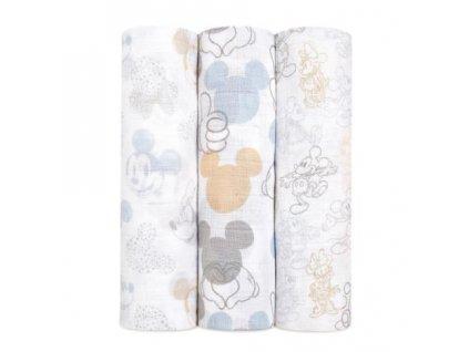 Aden & Anais 3 bavlnené plienky 120x120 Mickey+Minnie